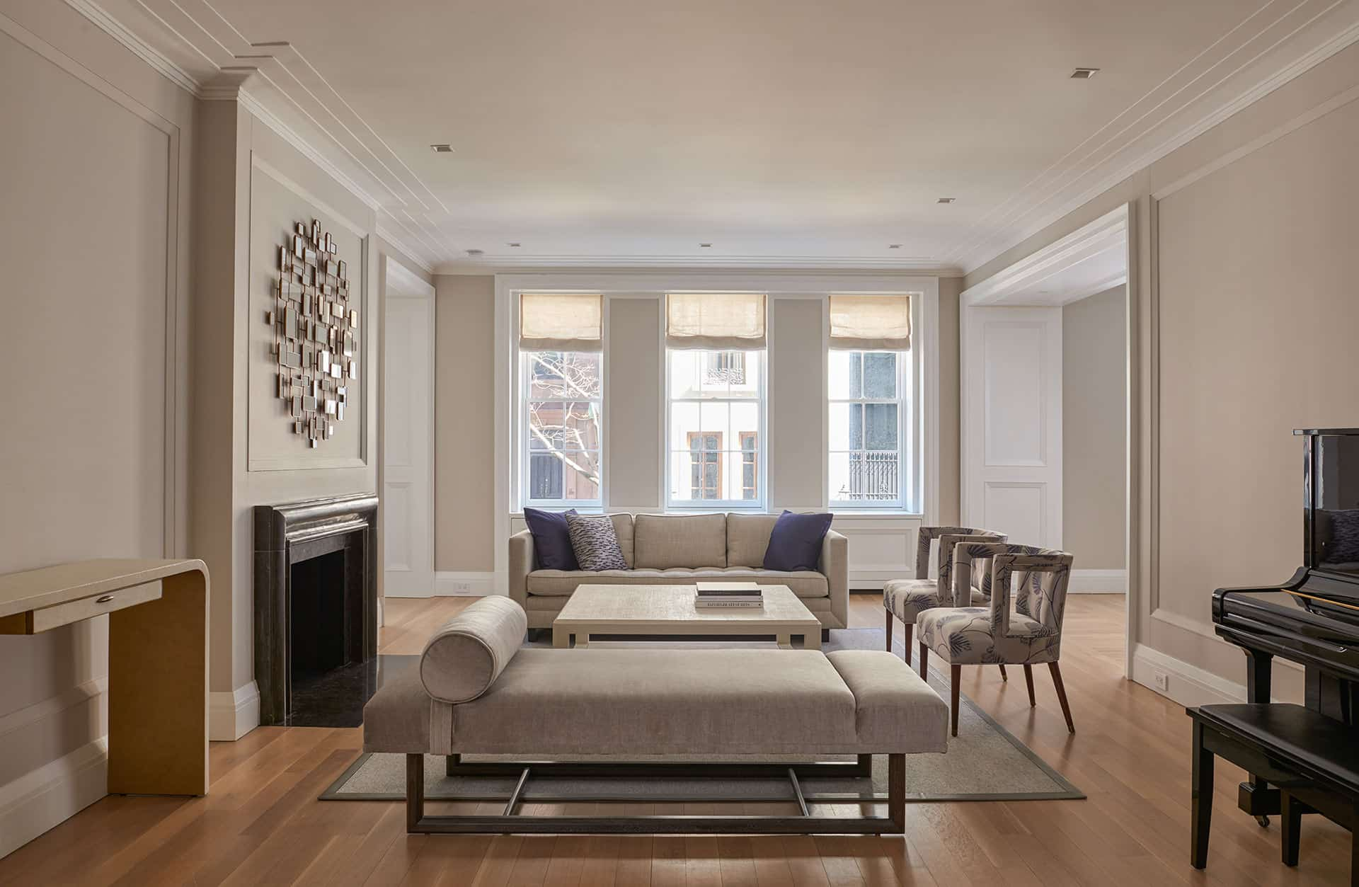 Park Avenue Apartment Living Room Architecture After Renovation | Rodman Paul Architects